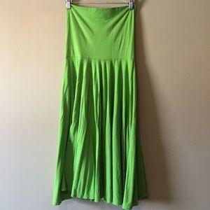 Bright Green Strapless Dress / Skirt J Crew